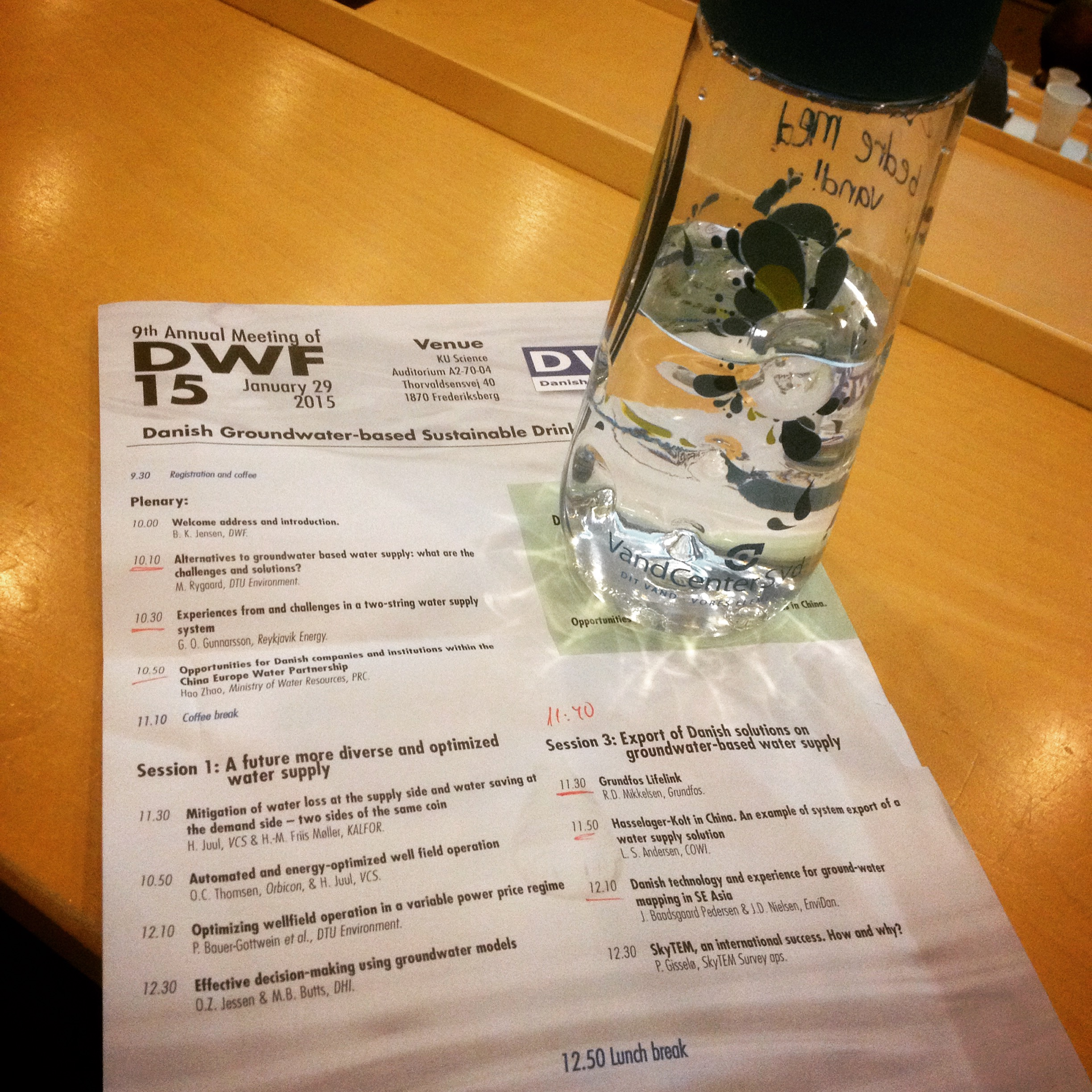 Danish Water Forum annual meeting 2015