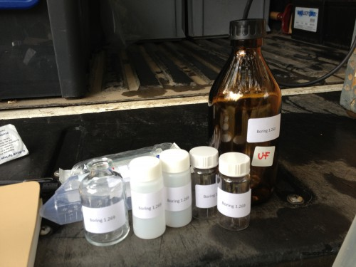 Sampling bottles for groundwater quality analyses