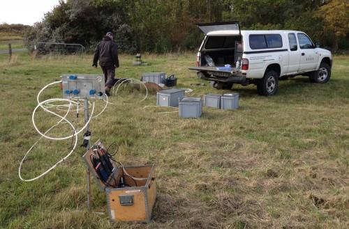 Preparing for purging the well at Ishøj (Copenhagen)